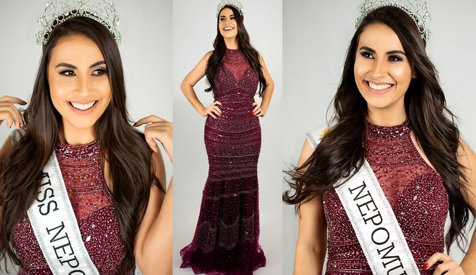 A modelo Aline Hipólito representará sua cidade natal (Nepomuceno) no Miss Minas Gerais CNB 2019