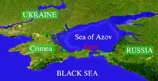 Azov Sea Ukraine Map