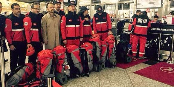 Kimse Yok Mu Asian Search and Rescue Team departing for Nepal