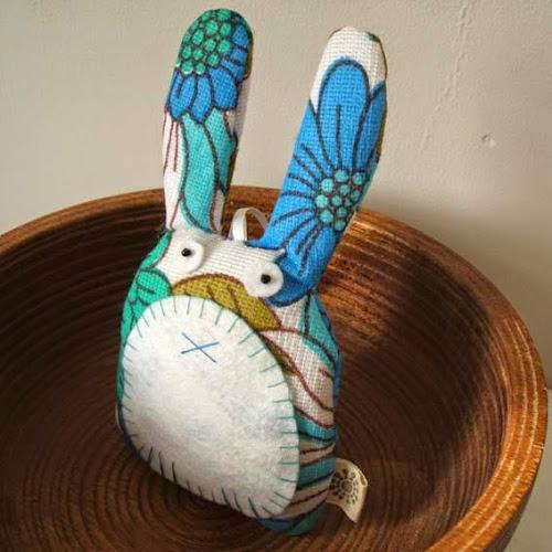 handmade vintage rabbit owl shaped lavender sachet