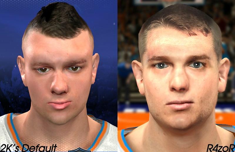 NBA 2K14 Cole Aldrich Face Mod