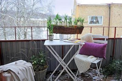 balcón de espacio pequeño