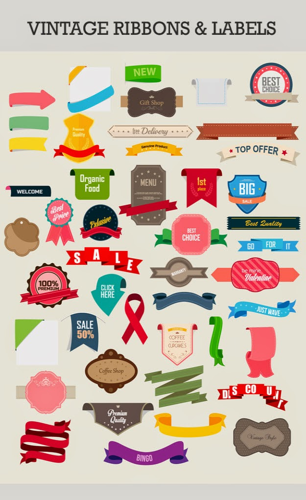 60 Free Vector Icons, Infographs and Badges set