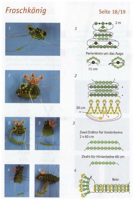 Плетение бисером лягушки для начинающих