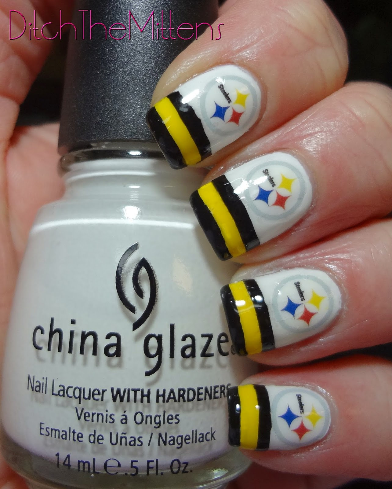 Steelers Nail Decals images