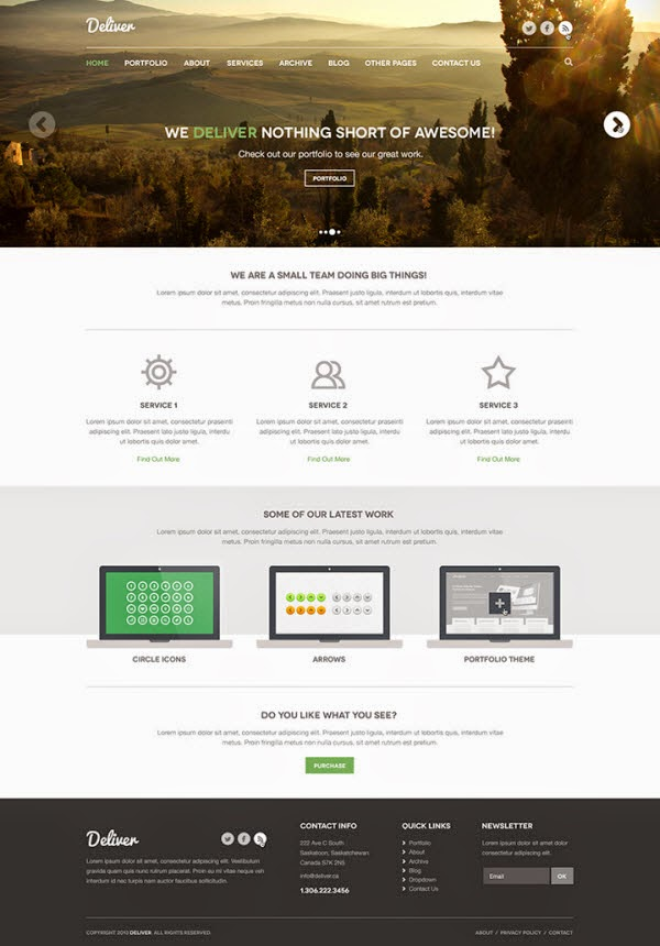 Deliver – Free PSD theme