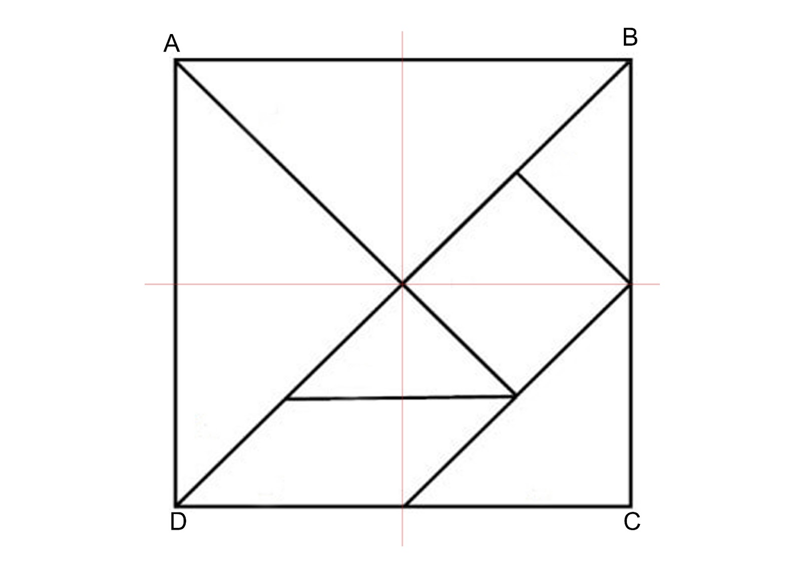 how to make a tangram square with