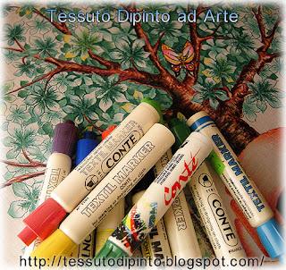 Pennarelli ad inchiostro indelebile textil marker