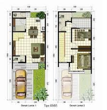 Denah rumah minimalis modern