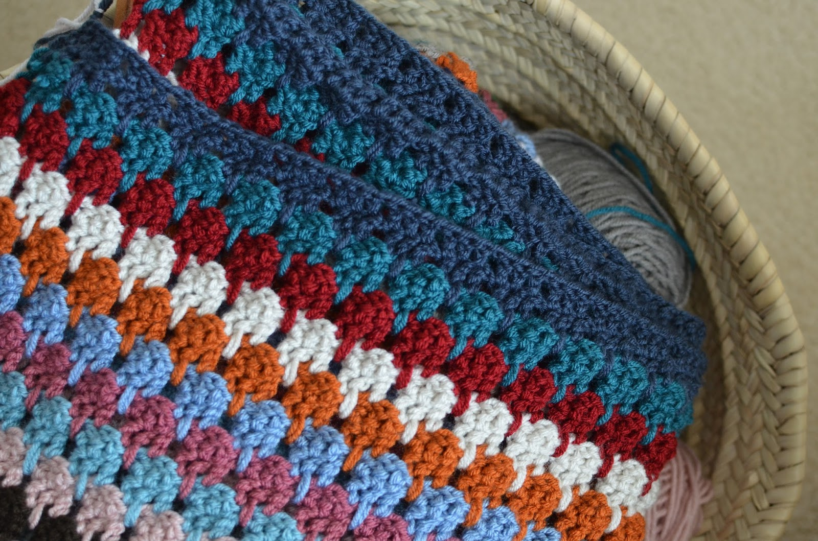 I'm Sharing The Main Crochet Project I'm Working On This Winter, An Afghan  Made With The Larksfoot Stitch Pattern I Call My Blanket Hensfoot,
