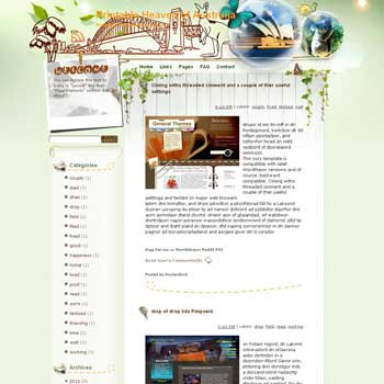 Printable Heaven of Australia blogger template. template blog from wordpress. travel blog template. template blog from wordpress. travel blog template. template travel for blogger. travel template for blog