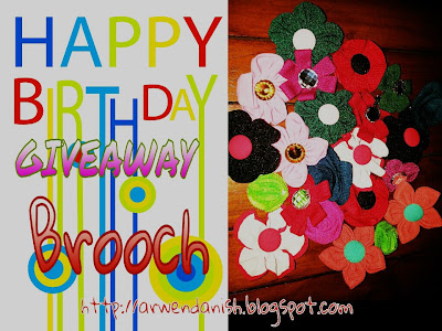 EL BIRTHDAY GIVEAWAY BROOCH
