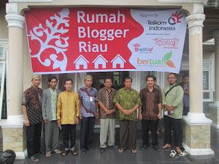 Peresmian Rumah Blogger Riau