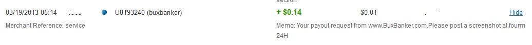 1º Pago - Buxbanker - $0.14 01