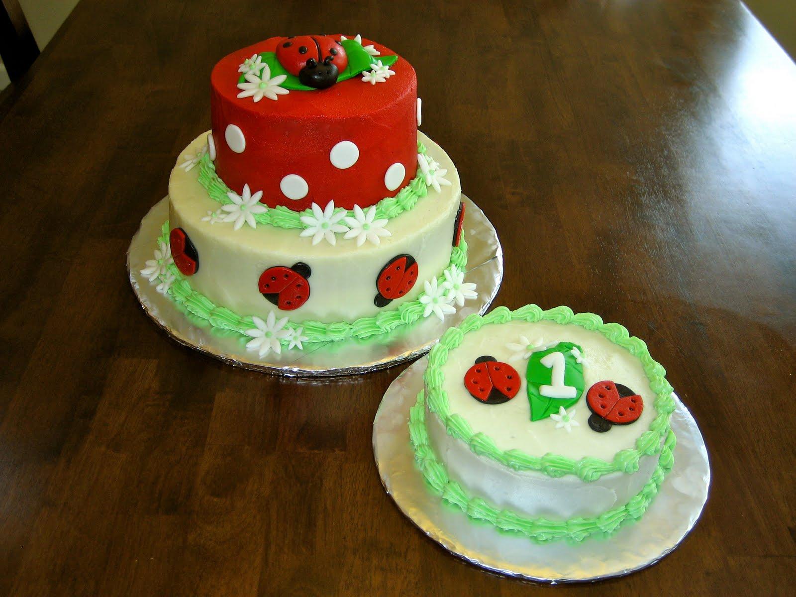 Mimis Cupcakes Ladybug Birthday Cake And Smash Cake