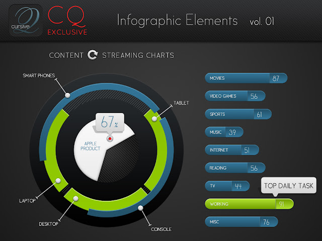 elementos infograficos PSD