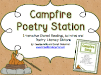 http://www.freehomeschooldeals.com/free-campfire-themed-printables-and-poetry-station/