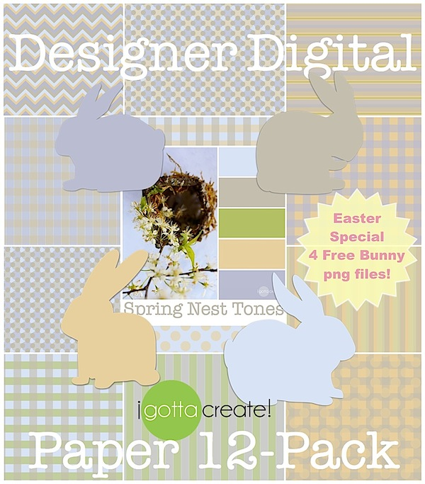 Spring nest inspires a pretty color palette and designer digital paper #printables | Grab it at I Gotta Create!
