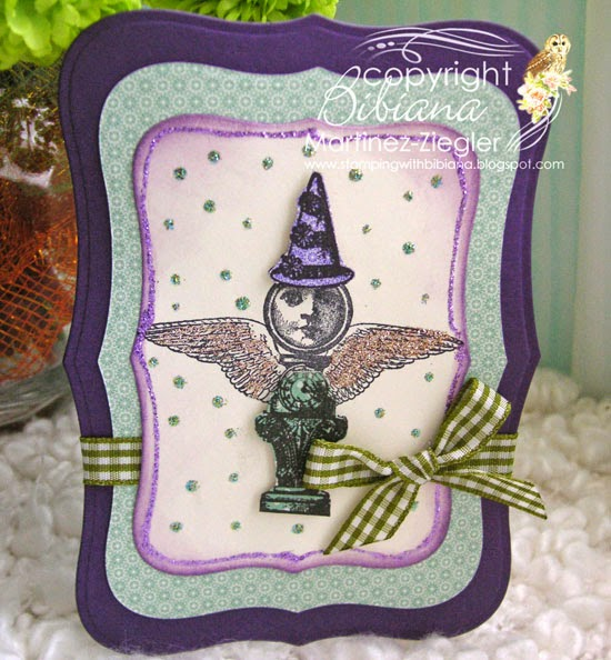lost coast designs stamps mini flying lady birthday card front