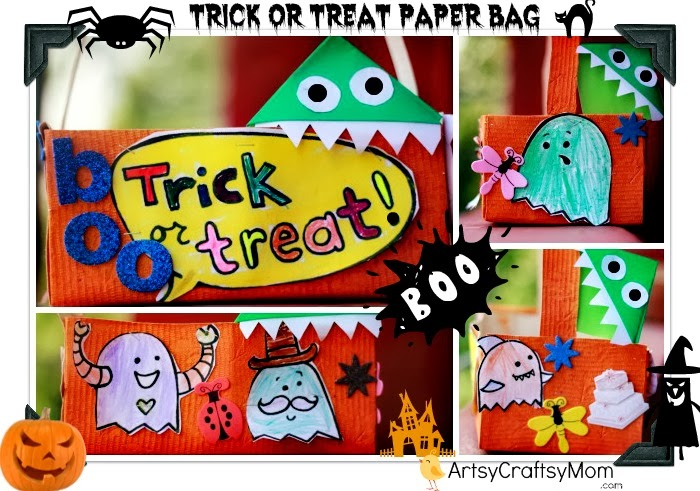 Halloween trick treat paper bag