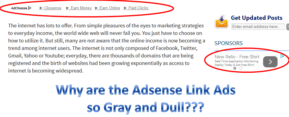 Adsense, Link ads, gray, muted, ads