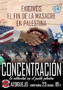 Concentración: Segovia con el pueblo palestino y contra la masacre perpetrada por Israel.