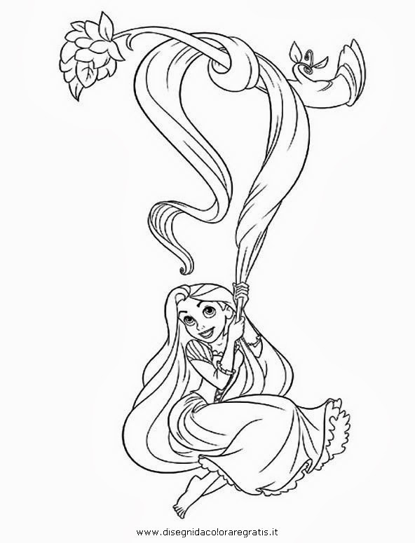 Rapunzel disegni da colorare for Disegni da colorare e stampare di rapunzel