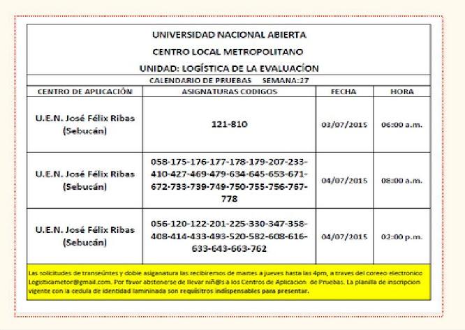 CENTRO DE PRESENTACIÓN EN CARACAS. VIERNES 03 y SÁBADO 04 DE JULIO DE 2015