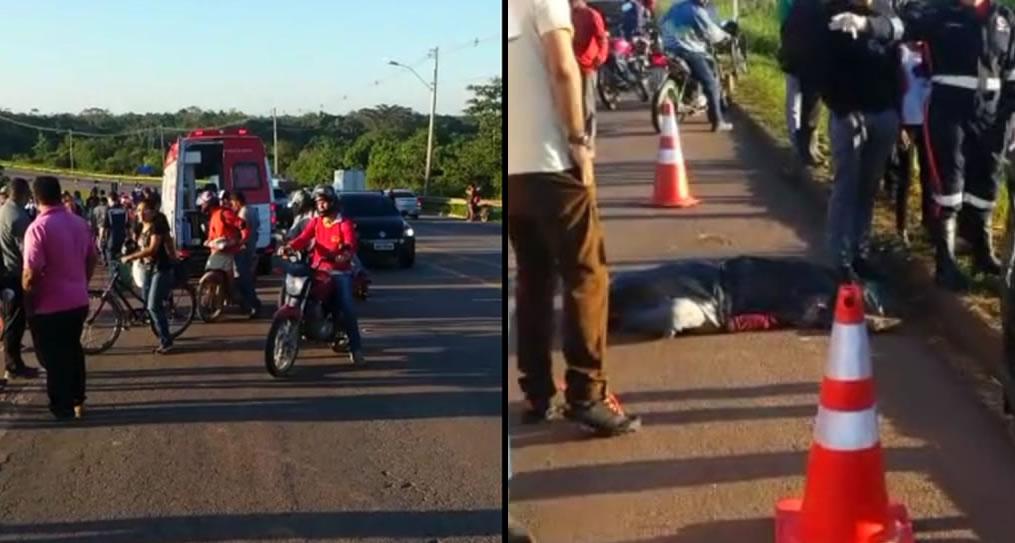 Motorista atropela e mata ciclista próximo a terceira ponte e foge em mototaxi