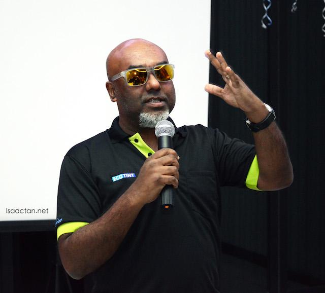 ECOTINT representative giving a talk