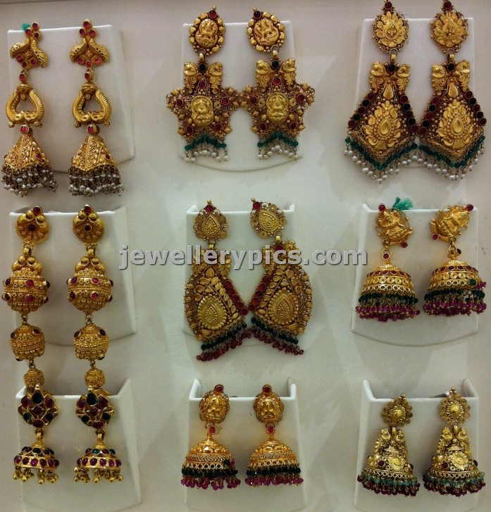 Bridal gold Earrings jhumka collection by Nalli - Latest Jewellery ...