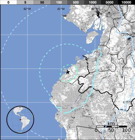 Epicentro sismo 5,4 grados en Perú, 26 de Enero 2014