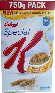 Kellogg's Special K breakfast cereal 3 grains