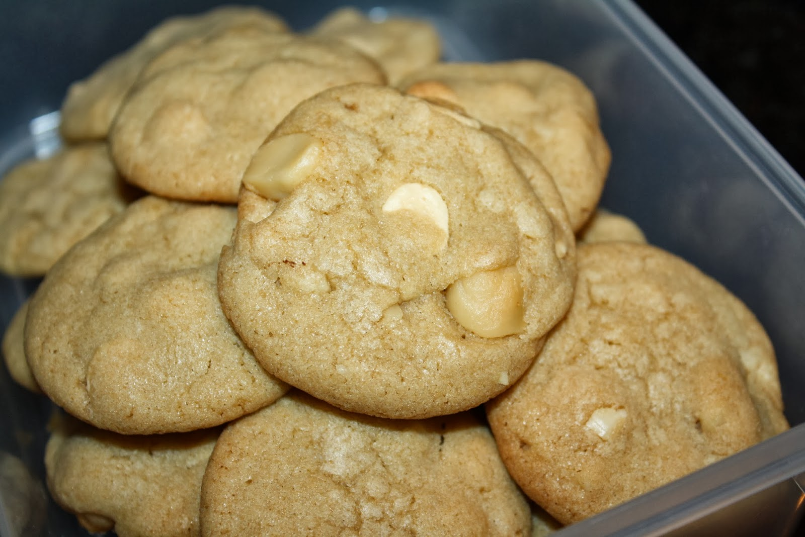 From the Ghirardelli Macadamia White Chip Cookies recipe on theback of ...