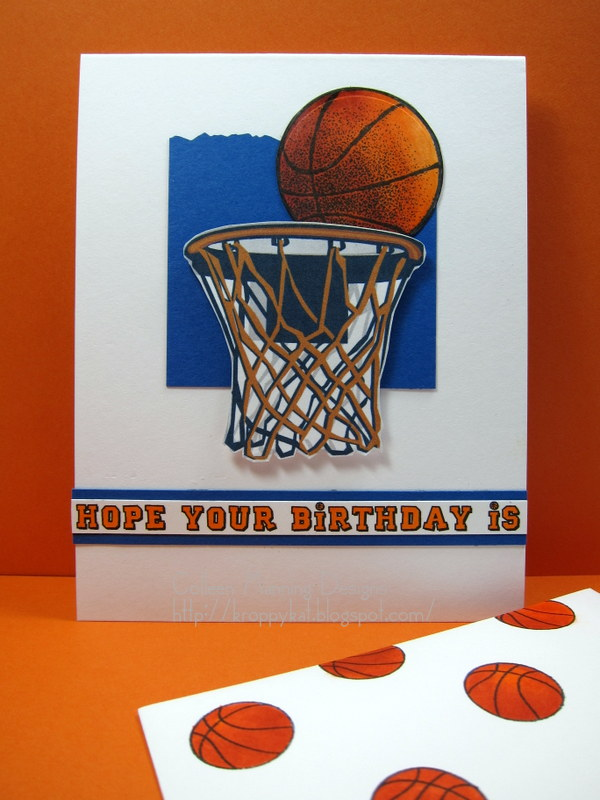 kroppykat} hope your birthday is a slam dunk, Birthday card