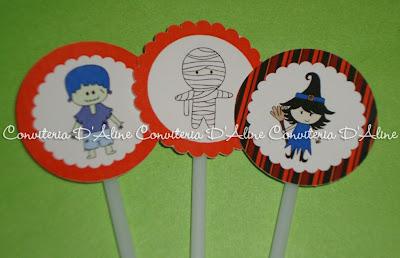 toppers decoração festa halloween
