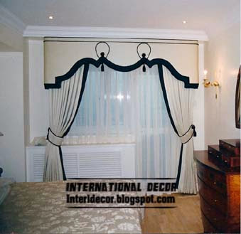 10 latest classic curtain designs style for bedroom 2015 for Black and white curtain designs