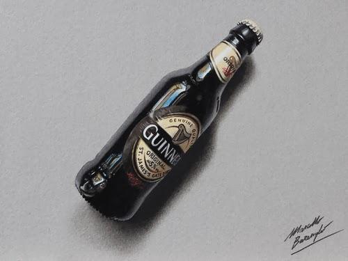 11-Guinness-Bottle-Graphic-Designer-Illustrator-Marcello-Barenghi-Hyper-Realistic-Every-Day-Items-www-designstack-co