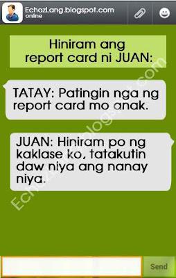 Hiniram ng kaklase ang report card ni Juan