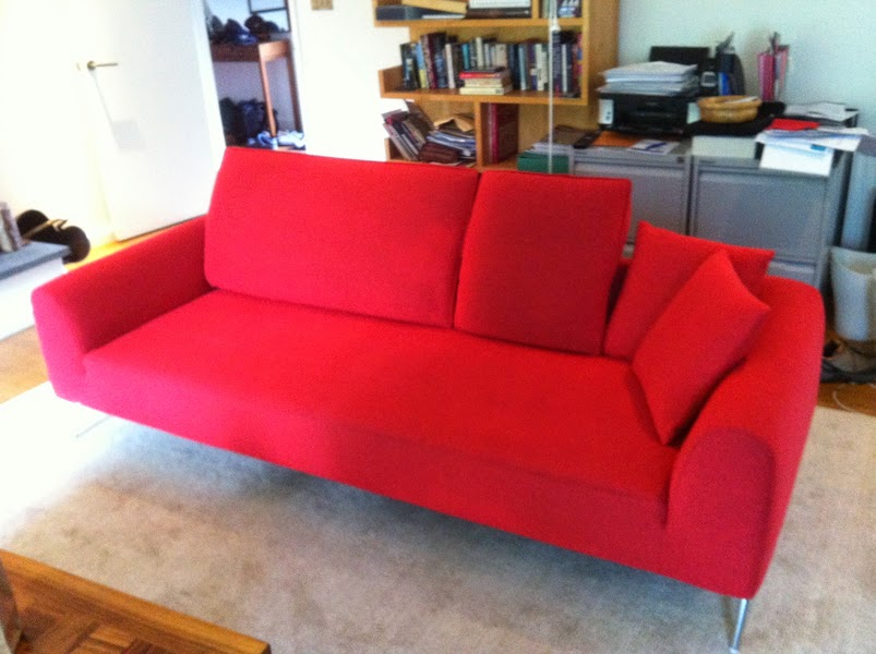 designer sofas after the clean