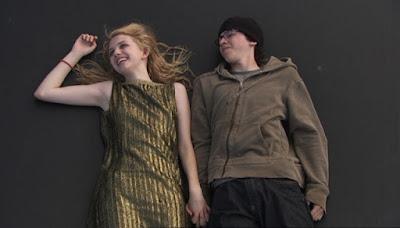 cassie ainsworth sid jenkins skins golden dress trampoline