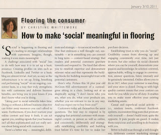How to make 'social' meaningful in flooring By Christine B. Whittemore