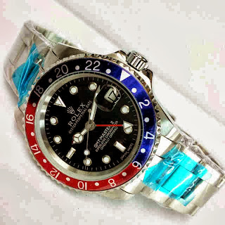 Jam Tangan Rolex GMT Blue-Red Matic