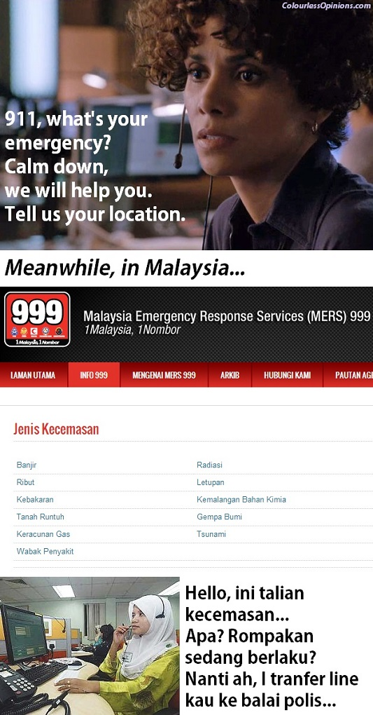 The Call emergency 911 halle berry vs Malaysia kecemasan 999 operator