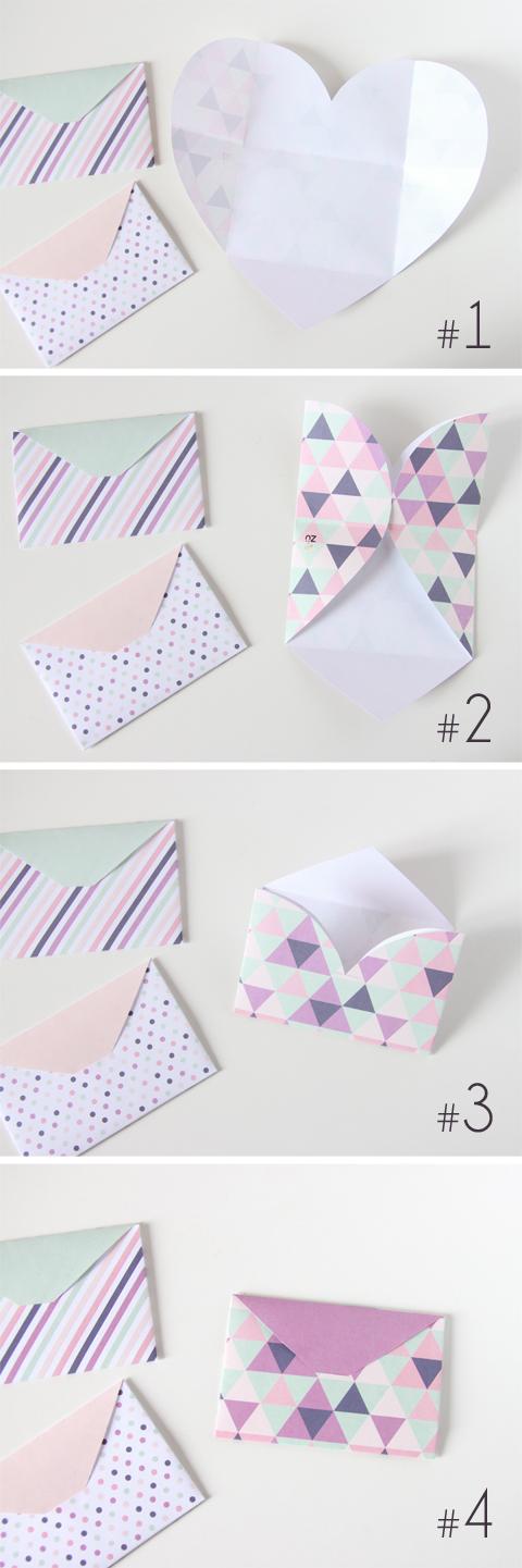 DIY - Enveloppe avec du papier en coeur