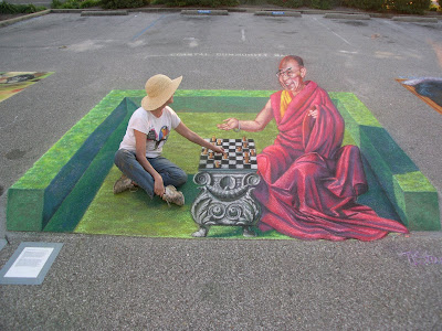3d chalk artist tracy lee stum -  tracy lee stum fine art - tracy lee stum 3d street painting