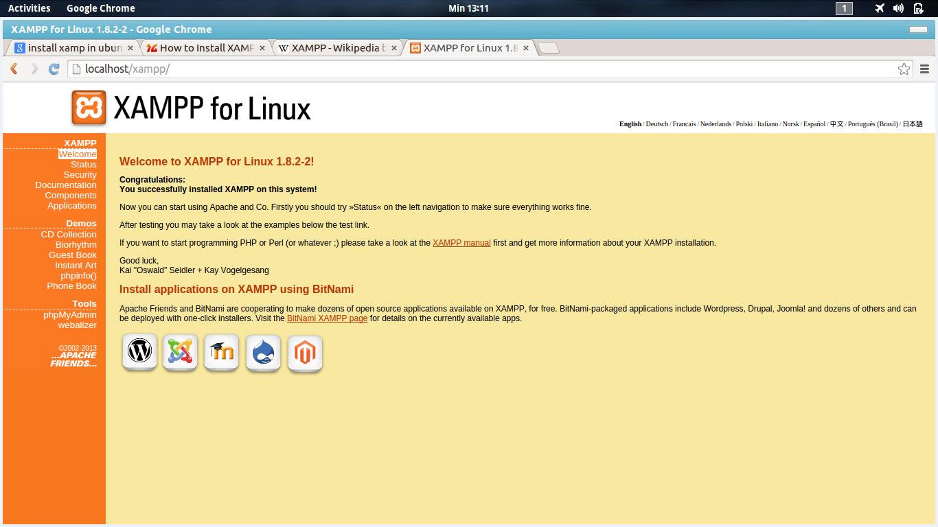 Cara Install XAMP di Ubuntu 14.04 (Linux)