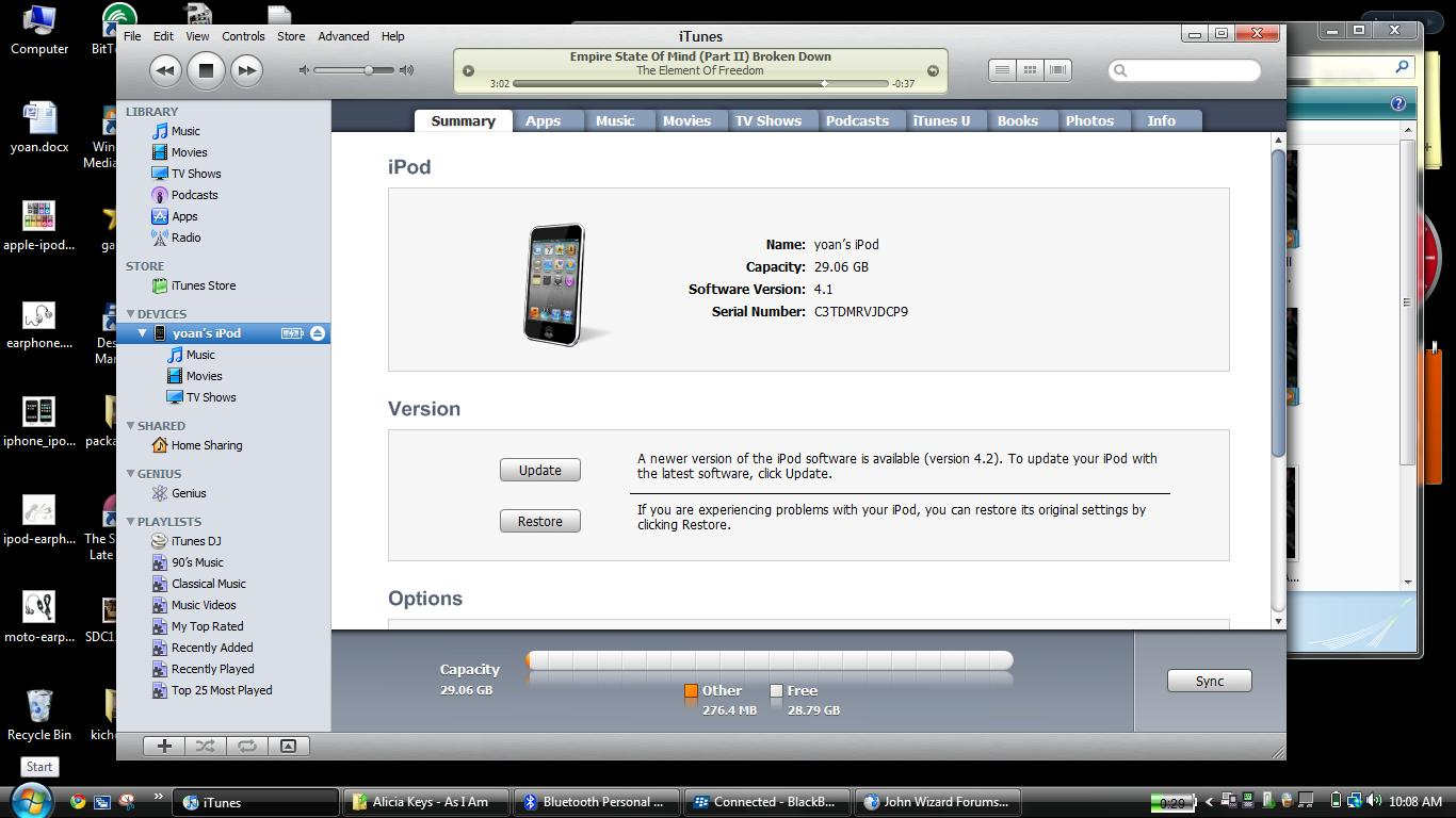 Find stolen ipod by serial number