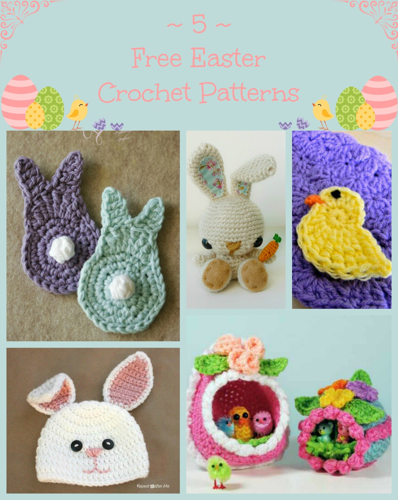 Crochet Patterns Easter : ... Craft, Crochet, Create: 5 Free Easter Inspired Crochet Patterns