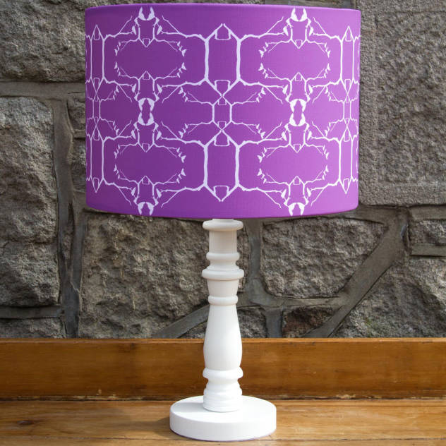 Swallow Lampshade in Purple : Industrial Wardrobes; drawers by Lomas